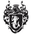 Heraldic silhouette No31 vector image