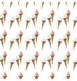 Ice cream pattern background vector image vector image