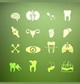icons of internal human Retina vector image vector image