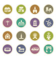 infrastucture of the city icons set vector image vector image