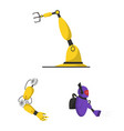 isolated object of robot and factory icon vector image vector image