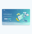 isometric payment online concept vector image