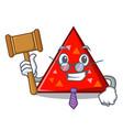 judge triangel mascot cartoon style vector image
