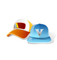light blue orange cap vector image