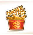 logo for crispy chicken legs vector image