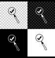 magnifying glass and check mark icon isolated on vector image vector image