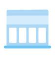 market store facade isolated icon design white vector image