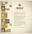 medical help and treatment background vector image vector image