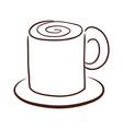 mug hot drink vector image vector image