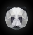 panda head polygon isolated vector image