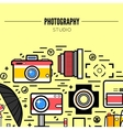 Photographer or photostudio concept design vector image vector image
