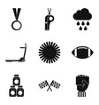 playing on the field icons set simple style vector image vector image