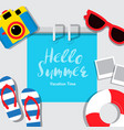 poster summer vacation summerbanner cover vector image vector image