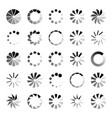 progress loader icons load spinning circle vector image