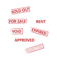 real estate stamp pack vector image vector image