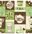 retro tea seamless pattern vector image vector image