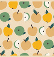 seamless pattern with apples trendy hand vector image vector image