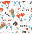 seamless pattern with cute items for couples vector image vector image