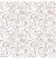 Seamless pattern with medical icons on white vector image
