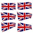 set british flags vector image