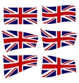 Set of british flags vector image