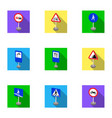 set of road signs signs of prohibition vector image