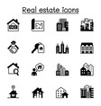 set real estate related icons contains vector image