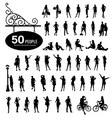Silhouette people bodily movement vector image vector image