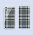 smartphone cover design mockup template geometric vector image