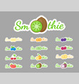 smoothie cocktail label logo set graphic vector image vector image