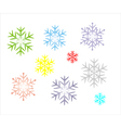 snowflake icons vector image vector image