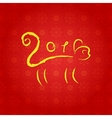 The new year of the monkey vector image vector image