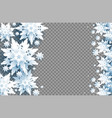transparent snowflakes objects vector image