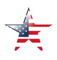 usa flag symbol star shape vector image vector image