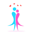 valentine card with lovers vector image vector image