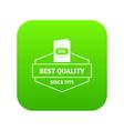 wine menu icon green vector image vector image