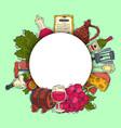 wine taste club round pattern vector image vector image