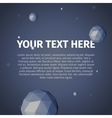 Your text here with group of spheres vector image vector image