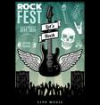 vintage rock music fest template vector image