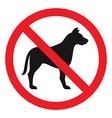 No Dog Sign vector image