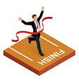 isometric people entrepreneur businessman leader vector image