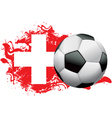 Switzerland Soccer Grunge vector image