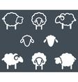 Sheep icon set vector image