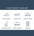 6 freight icons vector image vector image