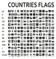 alphabetically sorted monochrome or black flags vector image