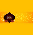 awesome happy diwali festival banner with diya vector image vector image