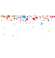 Banner with color confetti vector image vector image