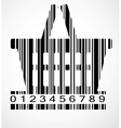 Barcode shoping cart image vector image