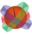 Basketball globe vector image vector image
