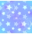 Blue blurred stars abstract seamless pattern vector image vector image